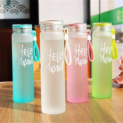 夏天水杯女生韩版玻璃杯便携蘑菇杯子韩国可爱耐热玻璃层加厚杯