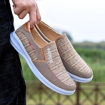2019新款帆布鞋时尚男鞋夏季舒适透气老北京布鞋运动单网凉鞋拖鞋