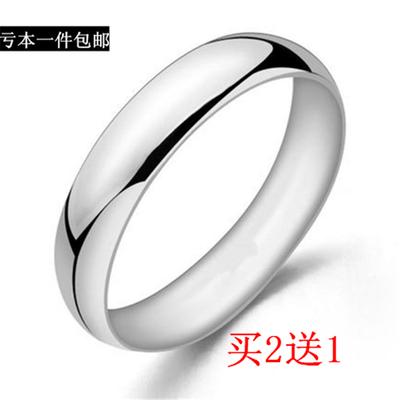 韩版光面戒指可转动钛钢指环潮男学生情侣戒网红饰品男女通用包邮
