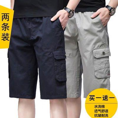 富贵鸟短裤男夏季薄款七分裤ins裤子男士休闲裤工裤男中年运动裤