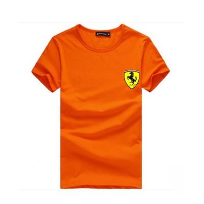 法拉利车标新款夏装男士短袖T恤 修身半袖衫 男式韩版圆领T恤血��