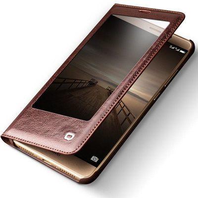 华为mate9手机壳真皮mate9翻盖手机套pro智能开窗商务保护套