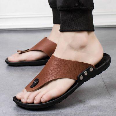 男鞋夏季凉鞋防滑沙滩鞋新款韩版新潮沙滩鞋百搭时尚轻便人字拖