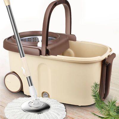 拖把杆旋转通用式免手洗拖把家用自动甩水懒人拖地神器墩布桶拖布
