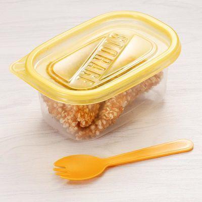 709ml长方形一次性打包餐盒50套保鲜盒水果捞榴莲千层蛋糕盒280ml