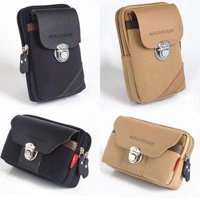 包包男士手机腰包大容量运动胸包户外休闲帆布包多功能斜挎包男包