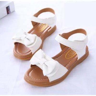 女童凉鞋2019夏季新款牛筋底公主鞋中大童小孩凉鞋儿童沙滩鞋防滑
