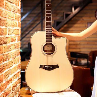单板民谣吉他41寸初学者学生网红实木古典乐器入门男女通用款正品