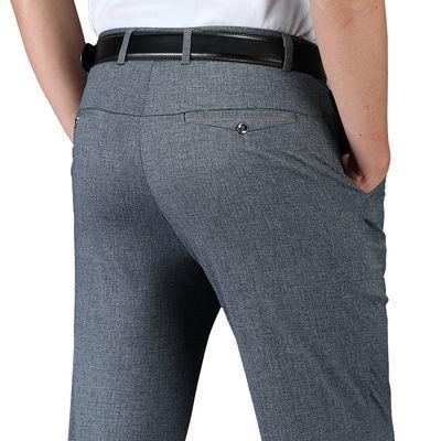 休闲商务西裤免熨易打理,中高腰适合中年男士上班休闲均可!