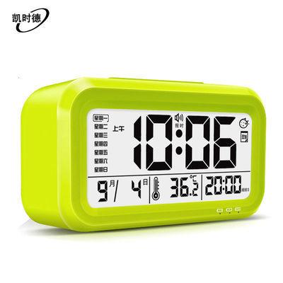 【送电池】语音充电闹铃创意夜光闹钟学生时钟静音儿童钟电子钟表