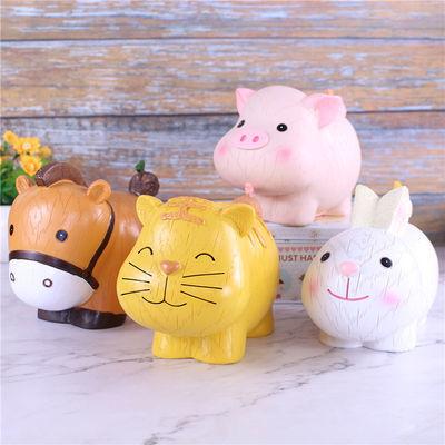 创意萌物十二生肖存钱罐 猪狗牛羊马老虎兔子动物储蓄罐儿童礼物