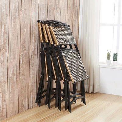 靠背折叠椅藤椅电脑椅办公室椅会议椅户外椅休闲西餐椅折椅子家用