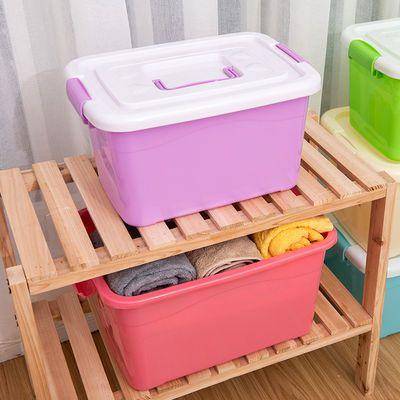 大号儿童玩具收纳箱塑料宝宝收纳盒卡通汽车带滑轮整理箱储物箱子