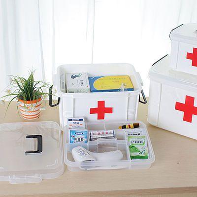 家用药箱儿童大号手提急救箱医疗箱便携塑料药品收纳箱家庭医药箱