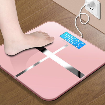 USB可选充电电子秤精准家用健康称体重秤人体秤成人减肥称体重称