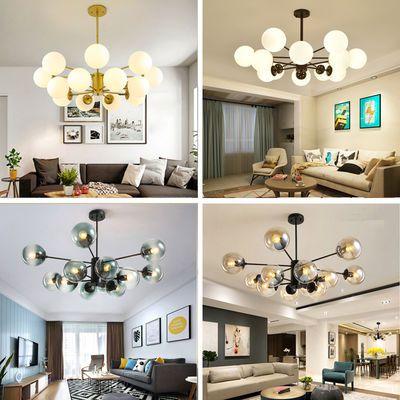 北欧吊灯美式欧式客厅创意个性现代简约大气家用魔豆餐厅卧室灯具