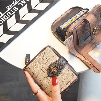2019新款欧美小钱包女短款真皮女士牛皮多卡位卡包大牌钱夹零钱包