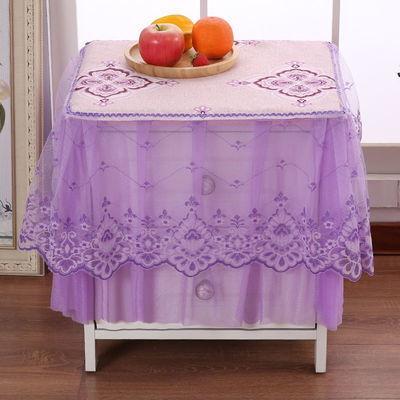欧式全包布艺蕾丝床头柜罩耐脏卧室简约现代防尘罩多用盖巾小台布