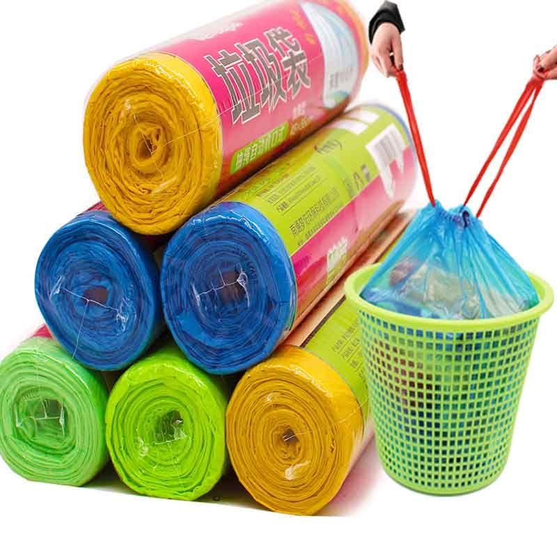 【买2份送2卷】抽绳垃圾袋家用手提式加厚大号背心塑料袋批发的细节图片5