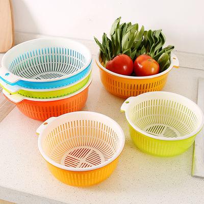 洗菜盆沥水篮水果盘洗菜神器淘菜盘层塑料家用简约客厅洗菜篮子