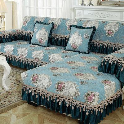 欧式沙发垫布艺防滑四季通用简约现代万能沙发套罩巾全包定做