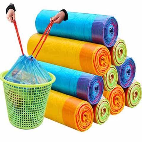 【买2份送2卷】抽绳垃圾袋家用手提式加厚大号背心塑料袋批发的细节图片6