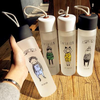火烈鸟杯子玻璃网红水杯女学生韩国家用清新带盖吸管可爱情侣茶杯【3月12日发完】
