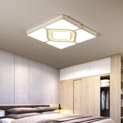 客厅灯长方形超薄简约大气家用L吸顶灯卧室灯餐厅黑白灯饰