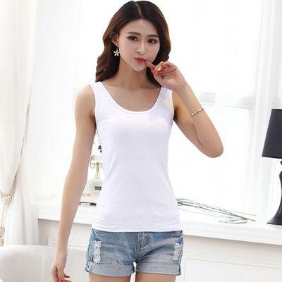 买二送一小吊带背心女夏外穿内搭百搭打底衫紧身工字短款大码白色