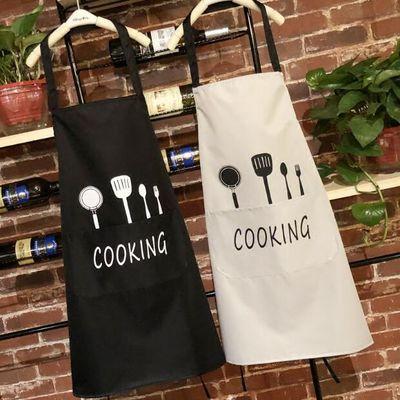 成人围裙带袖衣服防水防油理发师反穿罩衣男女长袖厨房做饭工作服