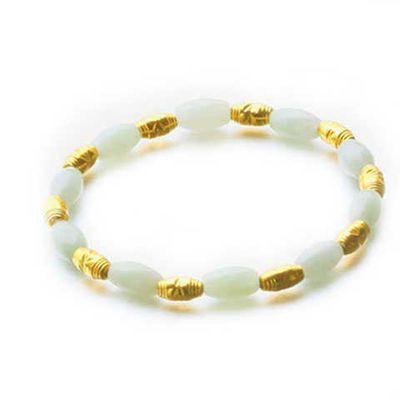 金玉满堂镀金貔貅 镀金转运珠 红绳镀金情侣手链