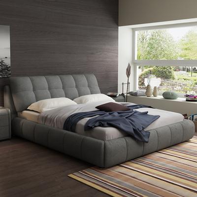【拉格拉诺】北欧布艺床现代简约可拆洗双人床1.8m主卧小户型婚床