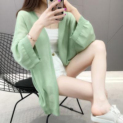 40679/披肩薄外套开衫防晒衣女新款冰丝学生韩版中长款时尚宽松大码夏季
