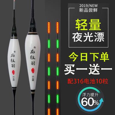 (买一送一)316电池电子夜光漂高灵敏水无影鲫鱼鲤鱼电子夜光鱼漂