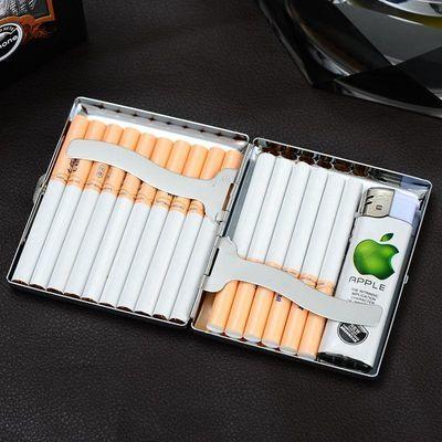 烟盒20支装男士超薄金属不锈铁烟盒创意防压防潮香於盒生日礼物