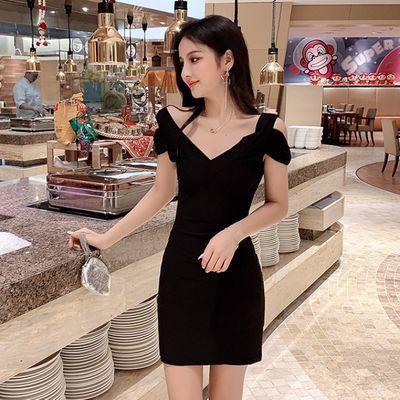 2020新款性感夜店女装韩版V领连衣裙显瘦紧身包臀短裙子夜场服装