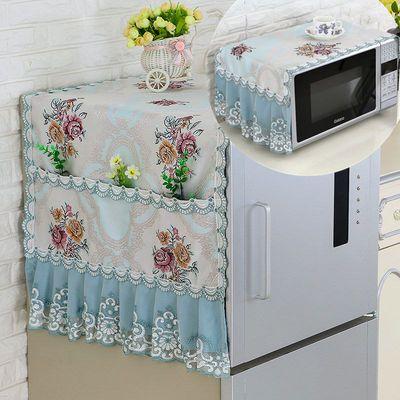 布艺冰箱盖布单开门对开门盖巾滚筒洗衣机罩冰箱罩微波炉防尘罩
