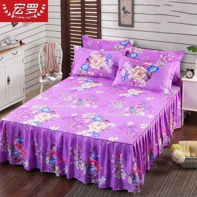 亲肤棉磨毛公主床裙床罩单件床盖床笠席梦思保护套1.2/1.5/1.8米