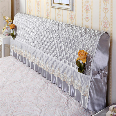 全包床头罩床头套防尘罩1.5m1.8m简约现代皮床软包布艺夹棉保护套主图