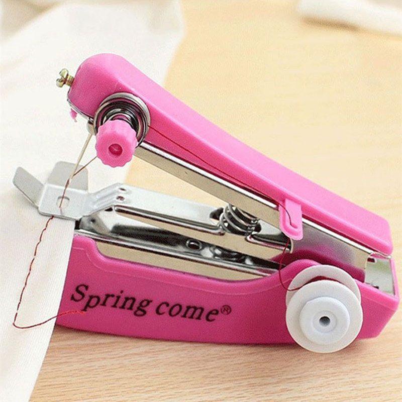 便宜的【升级加强版】便携迷你手动缝纫机家用多功能袖珍手持微型裁缝机