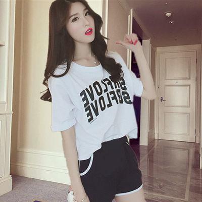 爆睡衣女夏短袖短裤睡衣女夏加大码睡衣女韩版夏季睡衣家居服套装