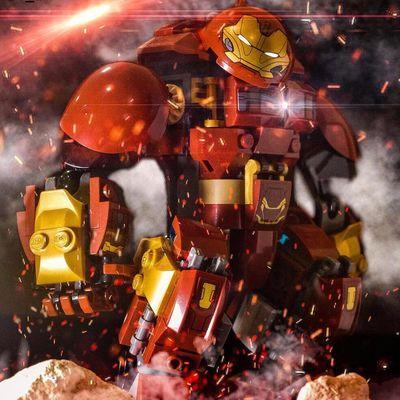 兼容乐高积木蜘蛛侠毒液机甲复仇者联盟4反浩克钢铁侠拼装玩具男6