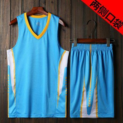 篮球服套装男夏季速干球衣青中年比赛队服大码跑步健身运动套装男