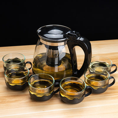 耐热防爆大容量玻璃泡茶壶家用功夫茶花茶壶办公冲茶器茶具套装