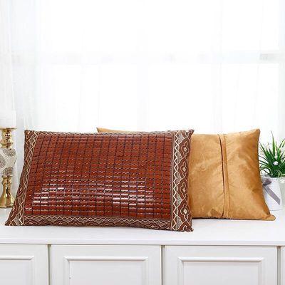 夏季麻将枕套夏天竹凉席枕头套单人枕垫麻将枕席夏凉枕头外套订做