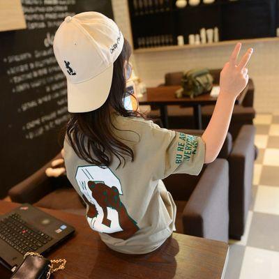 女童短袖T恤夏装2019新款儿童中长款打底衫上衣中大童韩版T恤衫潮