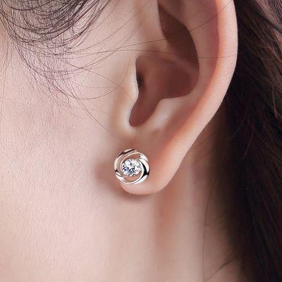 S925纯银针耳钉韩版百搭四叶草耳环长款防过敏耳饰2020新款耳钉女