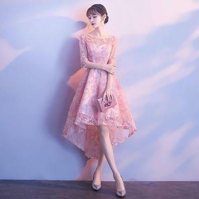 婚纱礼服新娘礼服敬酒服酒红色结婚礼服伴娘礼服连衣裙晚礼服女夏