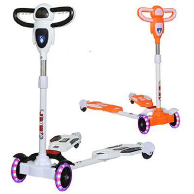 儿童滑板车四轮闪光摇摆滑滑车宝宝滑行车2-7岁音乐剪刀车玩具车