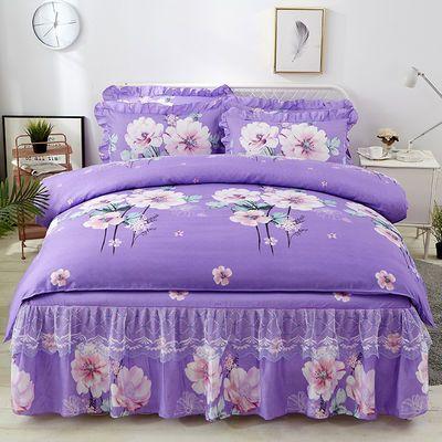 韩版四季款蕾丝床裙4四件套床罩床单被套芦荟棉三件套床上用品